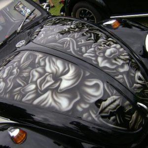 VW Beetle - Custom Airbrushing - Bonnet Detailing