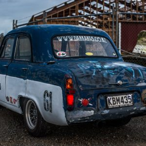 61 Ford Prefect with Custom Airbrushing - Rear View Detail