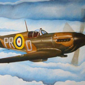 WW2 Spitfire Aeroplane Painting