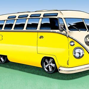 VW Van Microbus Illustration
