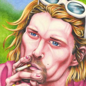 Kurt Cobain Illustrated Portrait